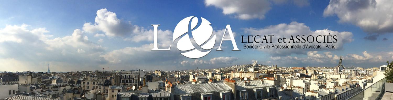 Logo SCP Lecat sur vue de Paris