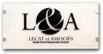 Plaque Logo Lecat & Associés